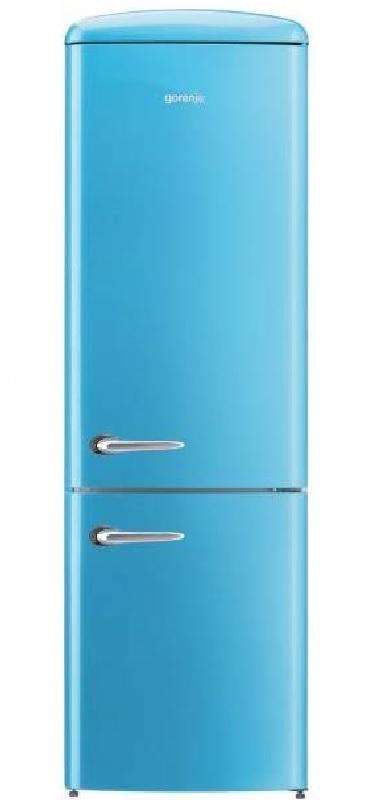 Retro chladnička gorenje modrá