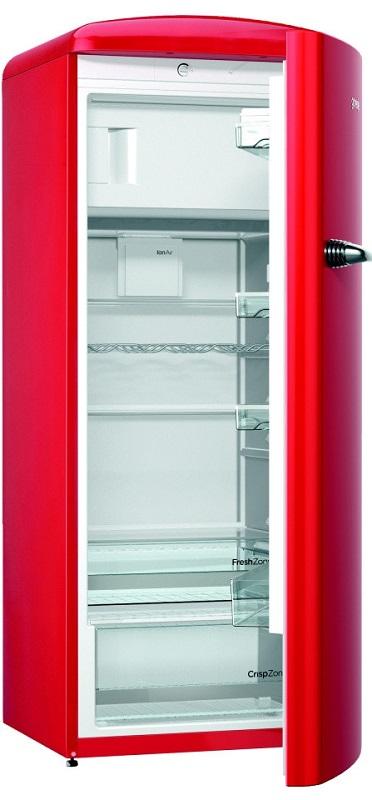 červená chladnička gorenje retro